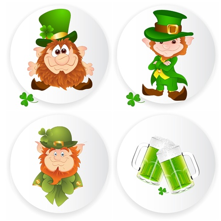 St  Patrick�s Day Stickers Vector