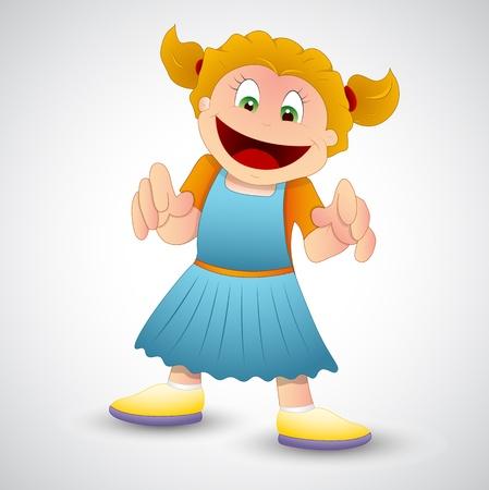 Happy Girl Vector