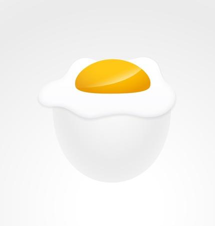 uovo rotto: Rotto Illustrazione tuorlo d'uovo