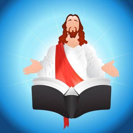 Jesus Christ with Book Vector