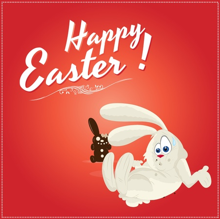 Illustration of Easter Bunny Background Vector
