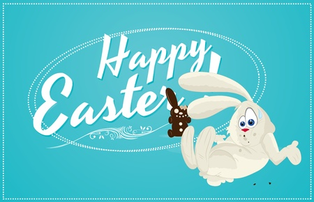 Easter Bunny Template Vector