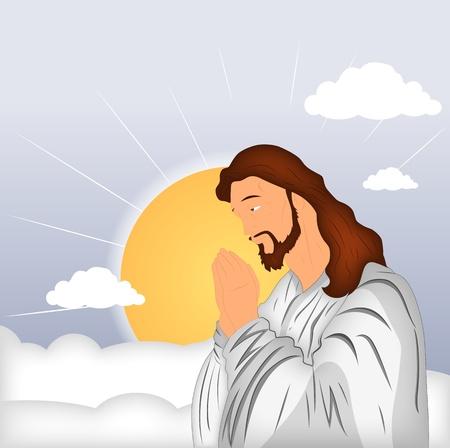 fondos religiosos: La oraci�n de Jesucristo Vectores
