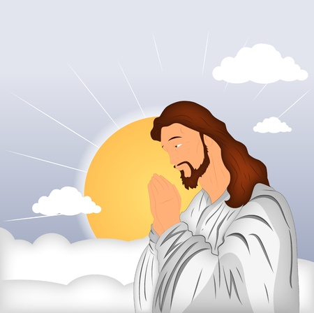 Praying Jesus Christ Stock Vector - 12771767