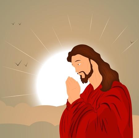 j�sus croix: Catholique J�sus-Christ Illustration