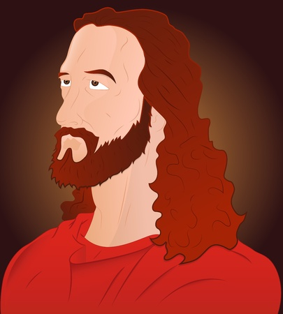 Closeup of Jesus Christ Vector