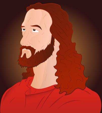 Closeup of Jesus Christ Illustration