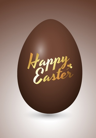 Chocolaty Easter Egg Vector