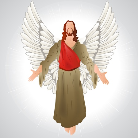 Jesus Christ with Wings Vector