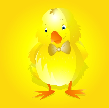 Happy Easter Chicken Vector