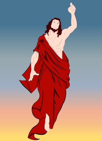 Illustration of Jesus Christ Portrait Vector