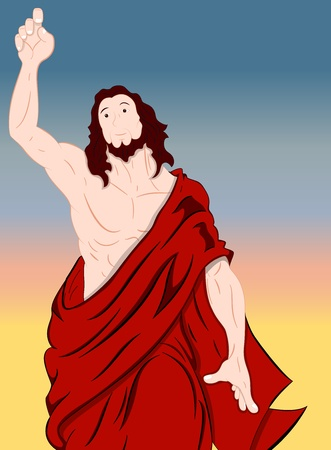 Art of Jesus Christ Portrait Vector