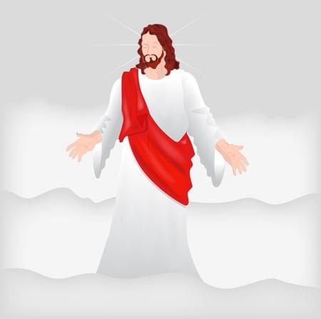 jesus on cross: Ges� Cristo Vector Art