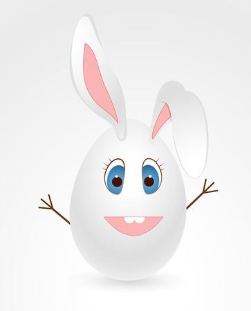 cartoon bunny: Uovo di Pasqua Bunny