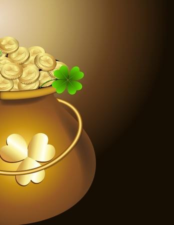 Pot of Gold Coins Stock Vector - 12861003