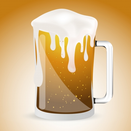 Glass of Beer Illustration Vector