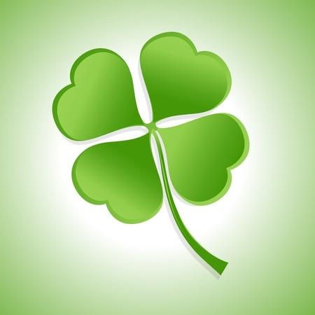four leaf: St  Patricks Day Shamrock Illustration