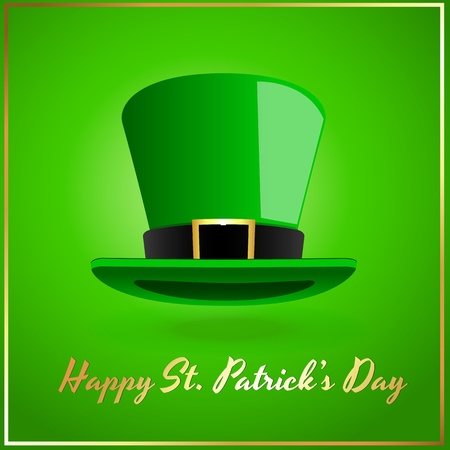 Leprechaun Hat Greeting Card Vector