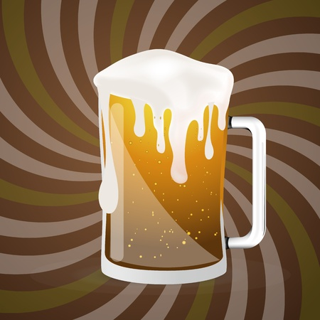 beerhouse: Abstract Beer Glass Vector Illustration