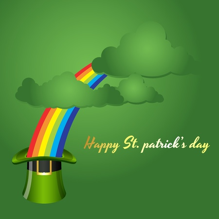 St  Patrick's Day Background with Clouds Stock Vector - 12857294
