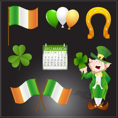 Saint Patrick's Day Vector Elements Vector