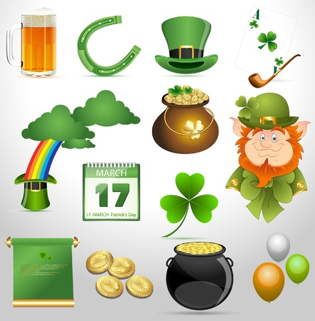 St  Patrick s Day Vector Icons Stock Vector - 12861220