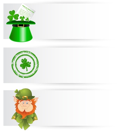 clover face: St  Patricks Day Decor Banners