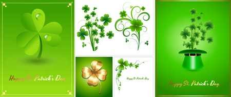 Patrick s Day Background Templates Stock Vector - 12859188