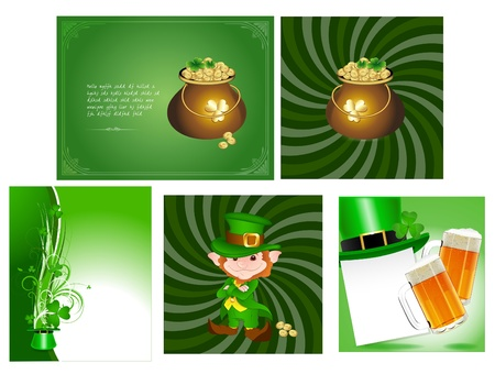 Patrick s day Cards Vectors Vector