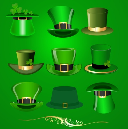 Patrick s Day Hats Vectors Stock Vector - 12859692