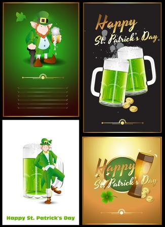St  Patrick s Day Greetings Vectors
