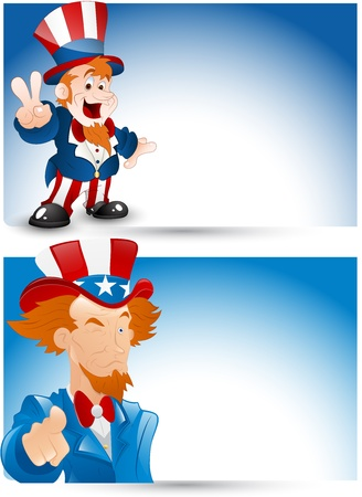 Uncle Sam Portrait Vector Vector
