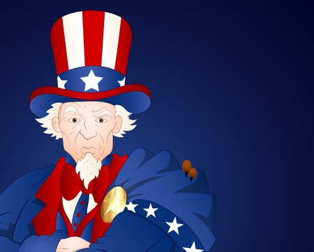 Uncle Sam Closeup Portrait Vector