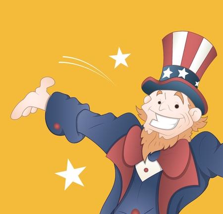 uncle sam: Happy Uncle Sam Vector