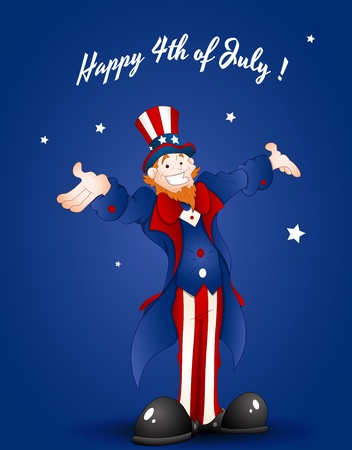 uncle sam: Happy Uncle Sam Greeting Card