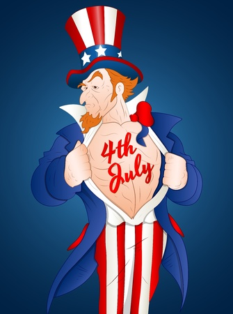 Muscular Uncle Sam Vector