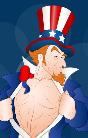 uncle sam: Illustration of Patriotic Uncle Sam Illustration