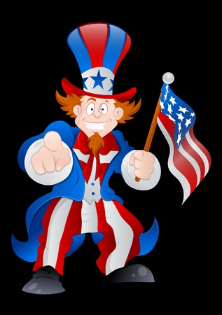 Patriotic Uncle Sam Vector Vector