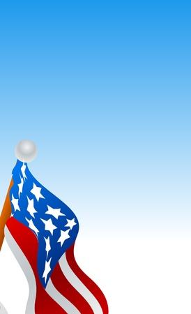 American Flag Vector Vector