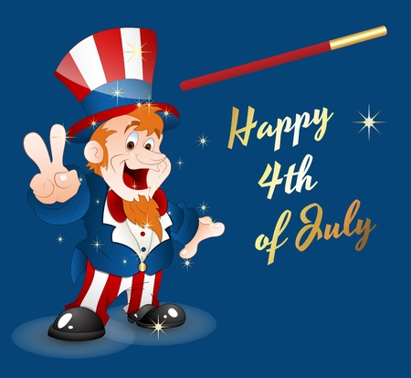 Happy 4th of July Stock Vector - 12861137