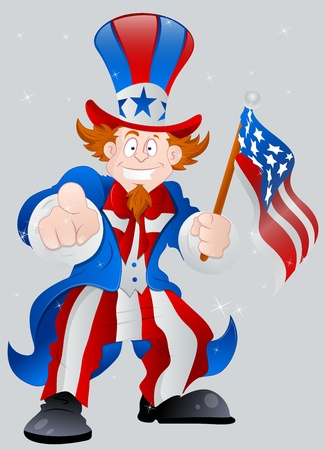 American Patriotic Uncle Sam Vector