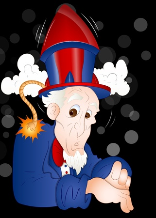 Funny Uncle Sam Vector