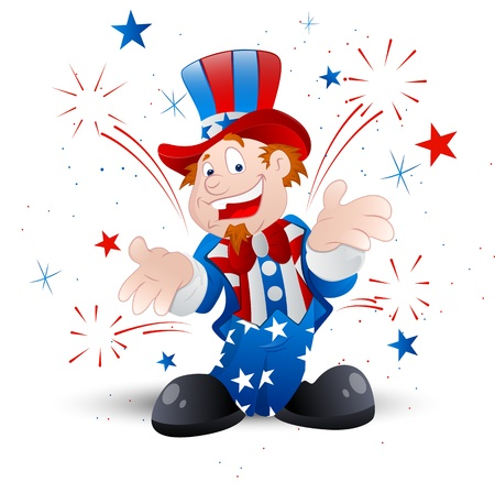 uncle: Cheerful Uncle Sam Illustration