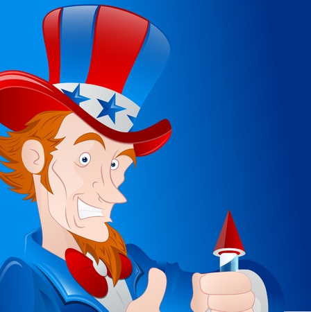Patriotic Man Vector Art Vector