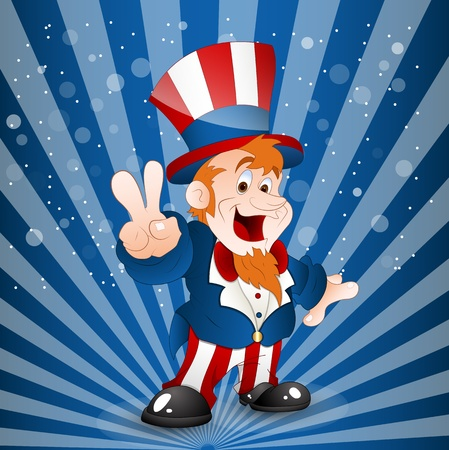 Illustration of Uncle Sam Vector