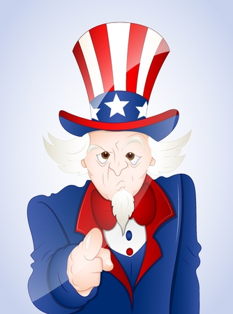 4th of July Uncle Sam Vector