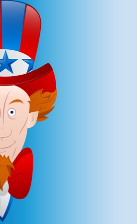 uncle: Happy 4th of July Vector Card Illustration