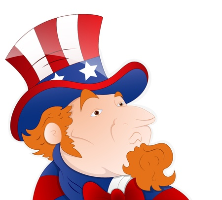 Vector Illustration of Uncle Sam Stock Vector - 12858981