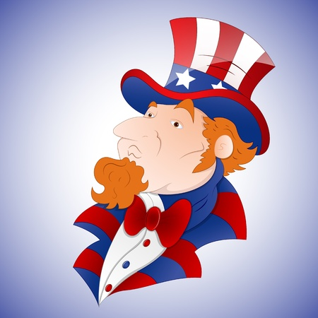 Cartoon Uncle Sam Vector Vector