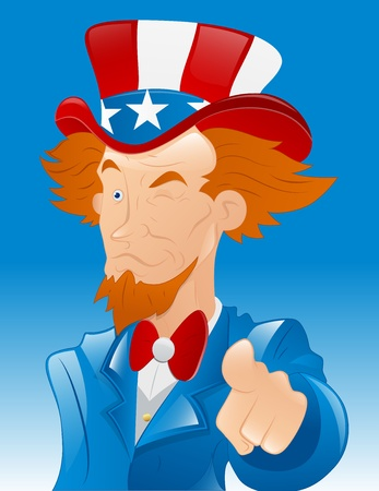 Winking Uncle Sam Vector Vector